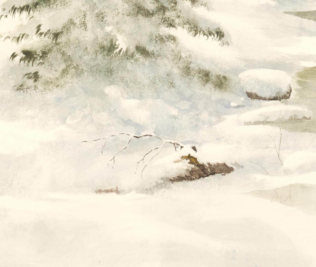 Lot 1133: Ron Williams W/C, Winter Landscape