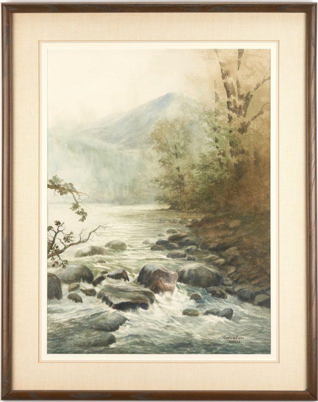 Lot 1134: Ron Williams W/C, Mountain Stream