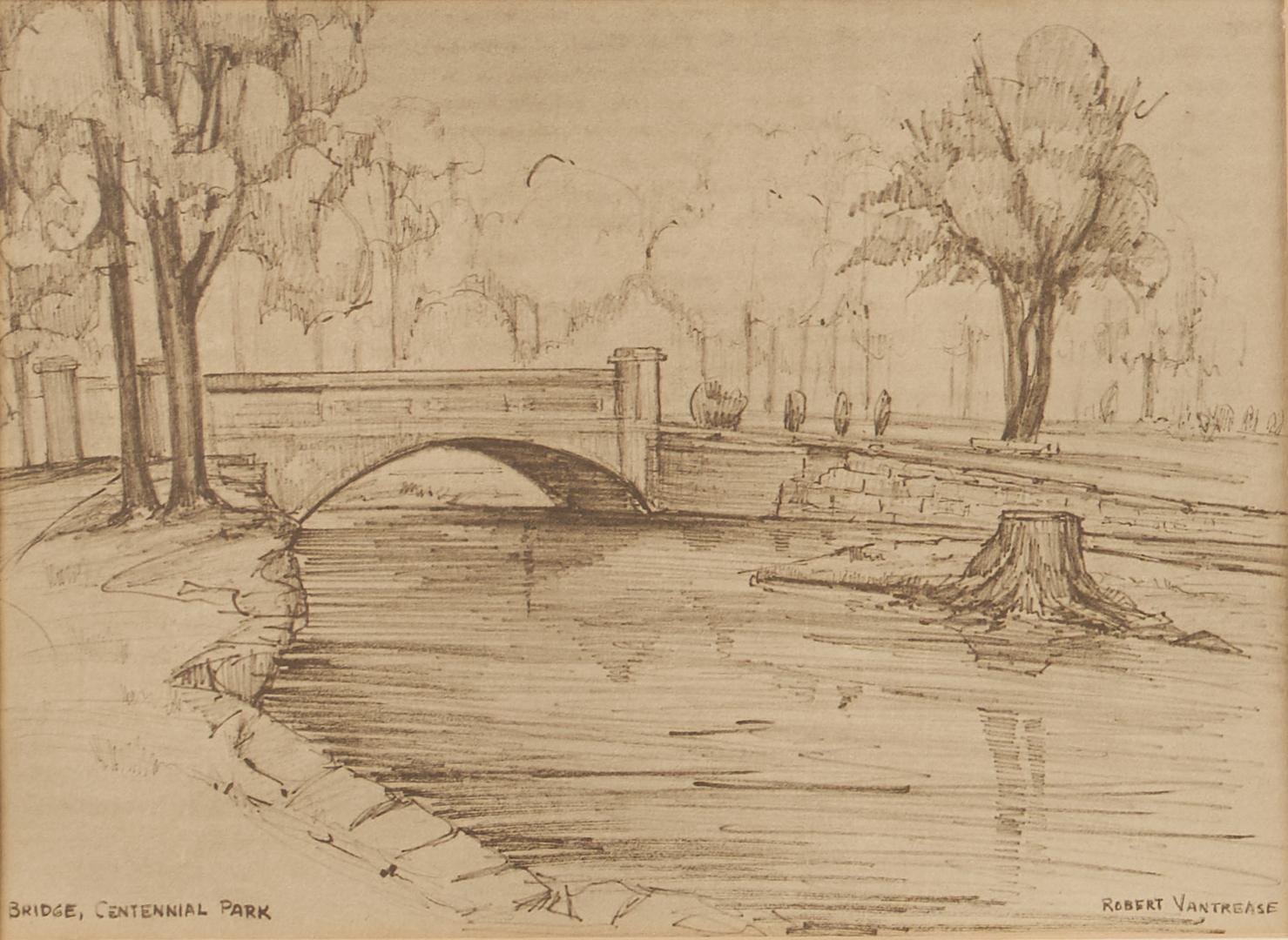 Lot 1136: Max Hochstetler Expressionist Painting plus Vantre