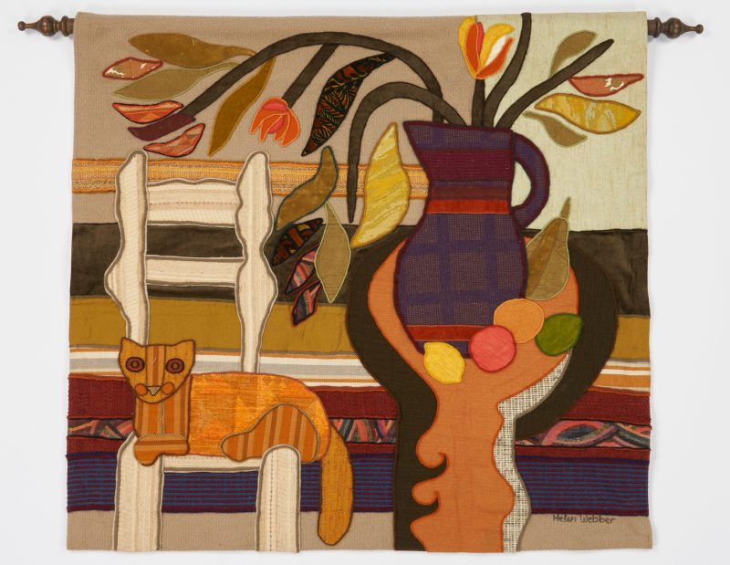 Lot 1137: Helen Webber Abstract Tapestry