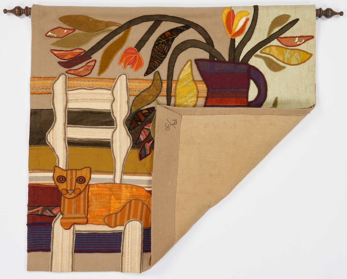 Lot 1137: Helen Webber Abstract Tapestry
