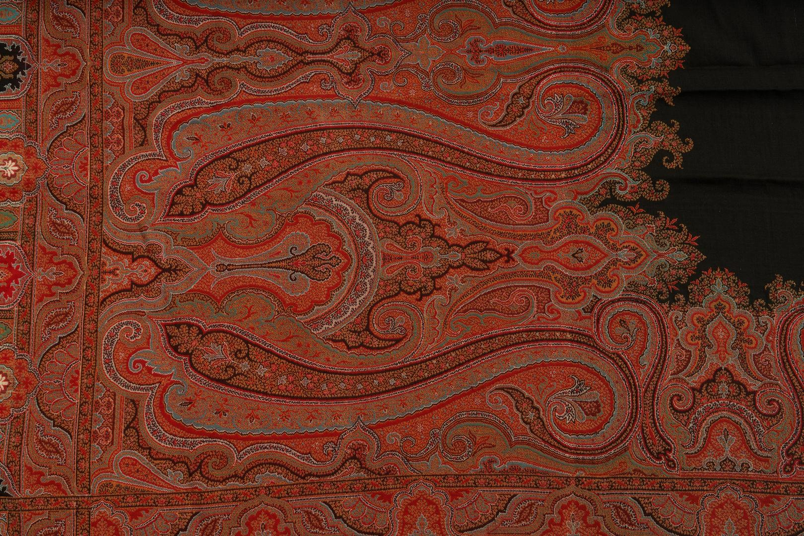 Lot 1142: Victorian Quilt and 2 Paisley Shawls