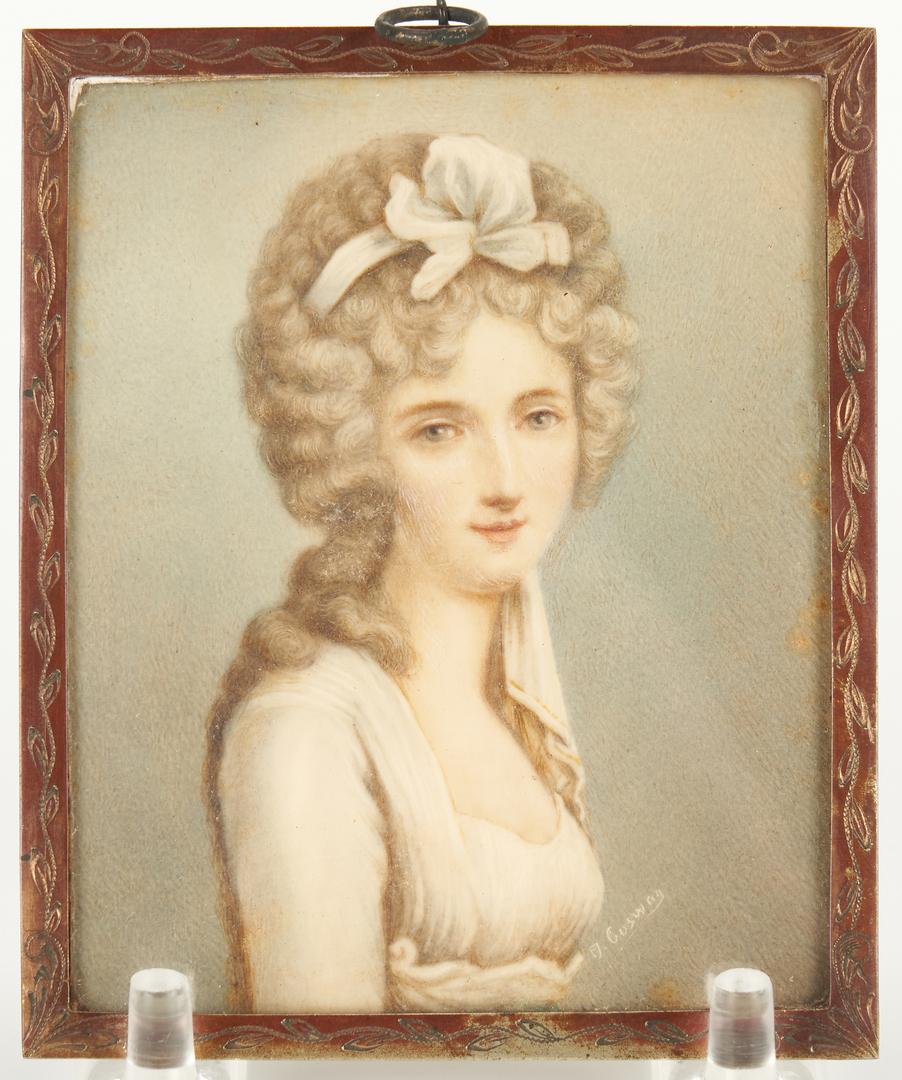 Lot 1147: 4 Signed Portrait Miniatures, incl. Lady Jane Grey