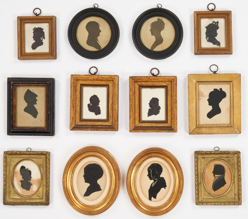 Lot 1148: Group of 12 Silhouettes, incl. NJ
