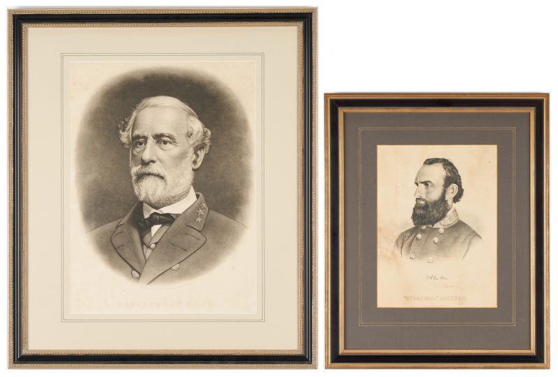 Lot 1152: 19th Cent. Robert E. Lee & Stonewall Jackson Prints
