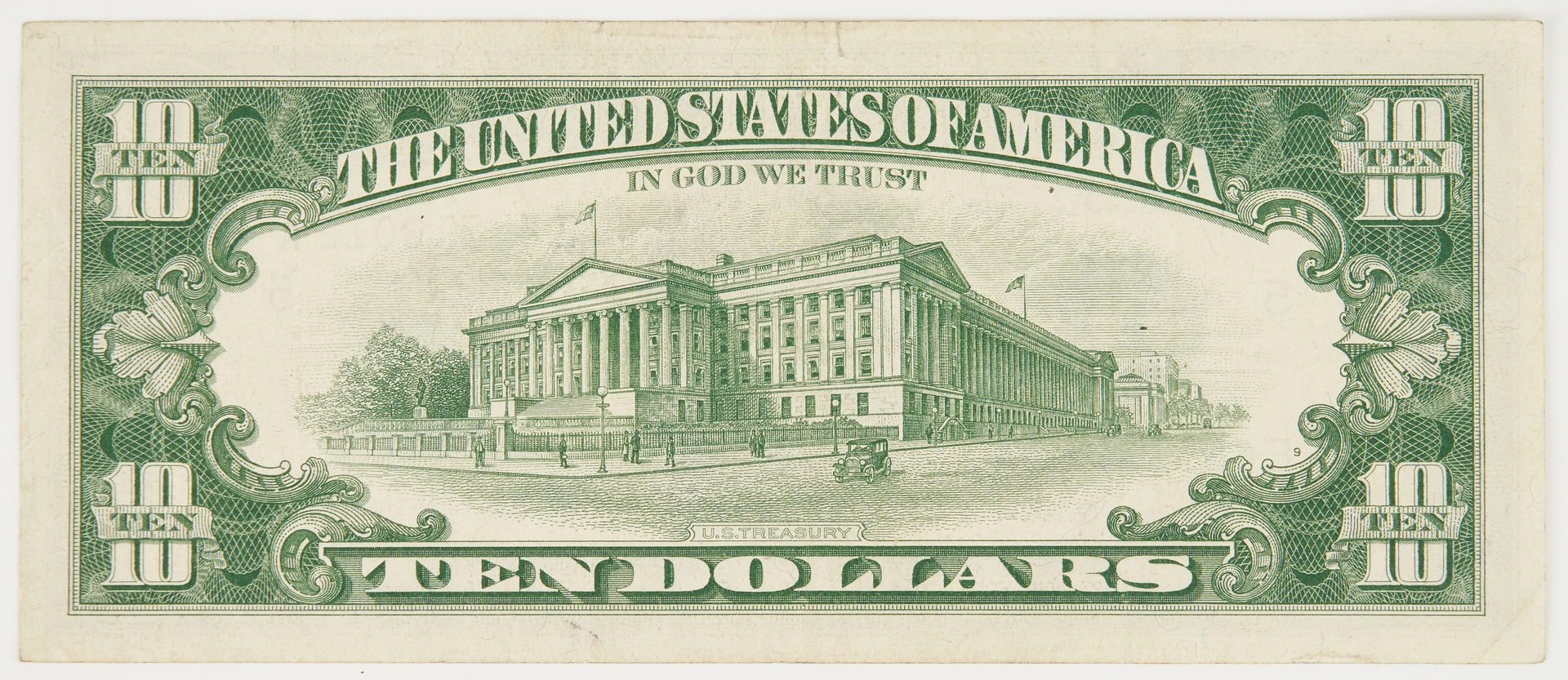 Lot 1156: 1963A $10 Note Error, Mismatched Serial Number