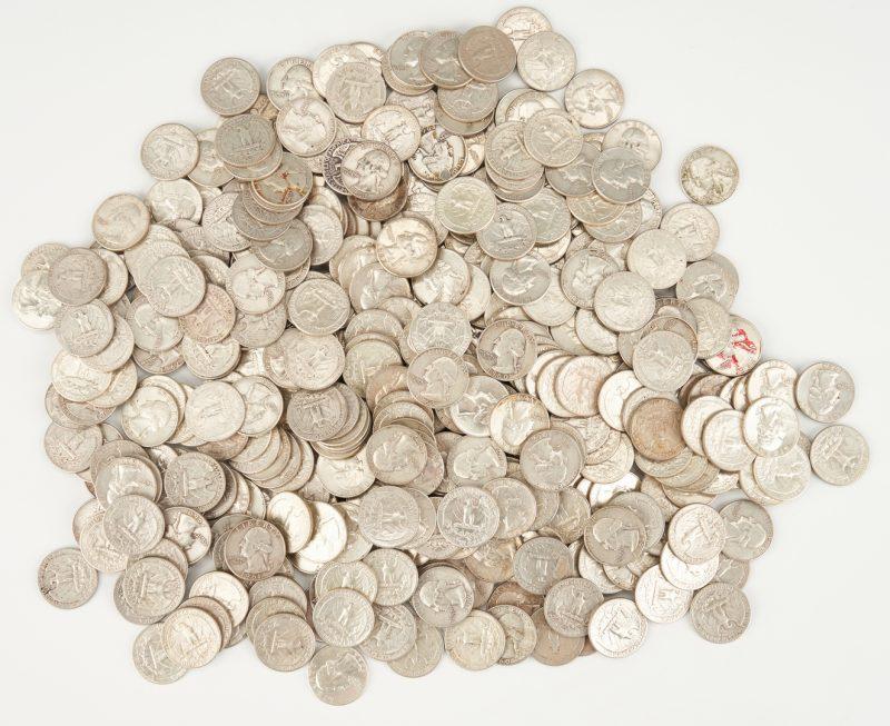 Lot 1157: 413 90% silver Washington Quarters, 1960-64