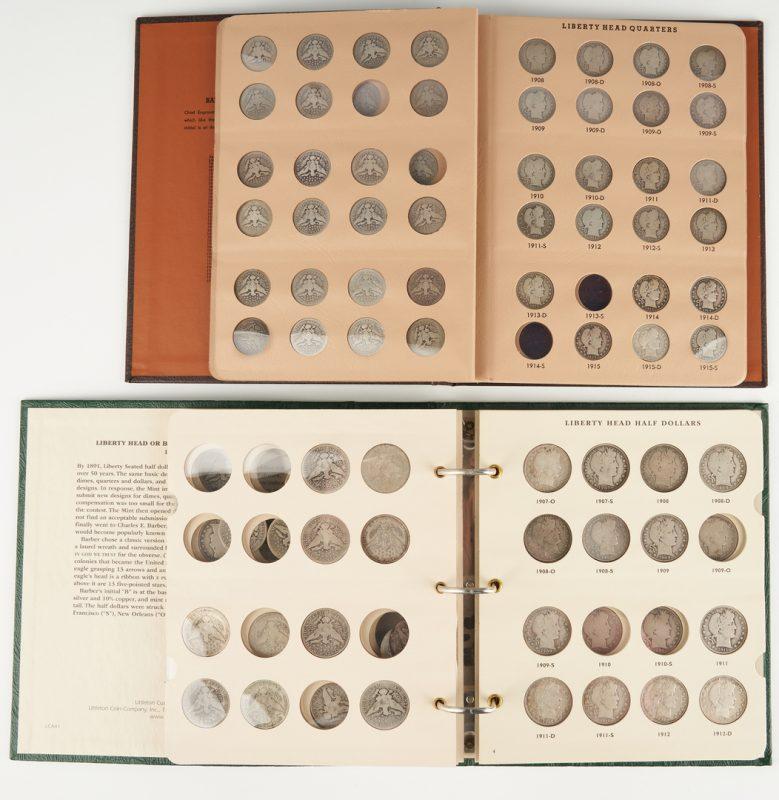 Lot 1158: 122 Barber/Liberty Head Half Dollars & Quarters