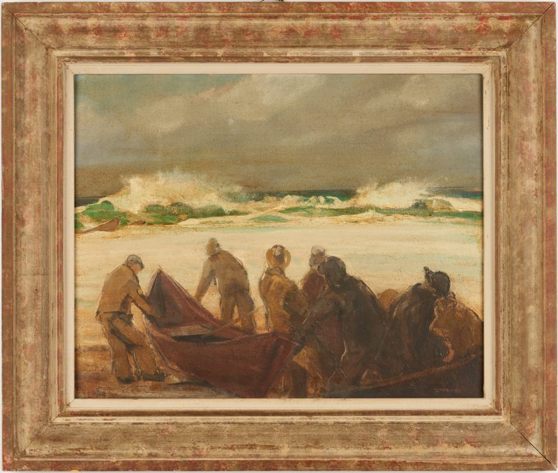 Lot 116: Jay H. Connaway O/B, Launching Boat, Monhegan, ME