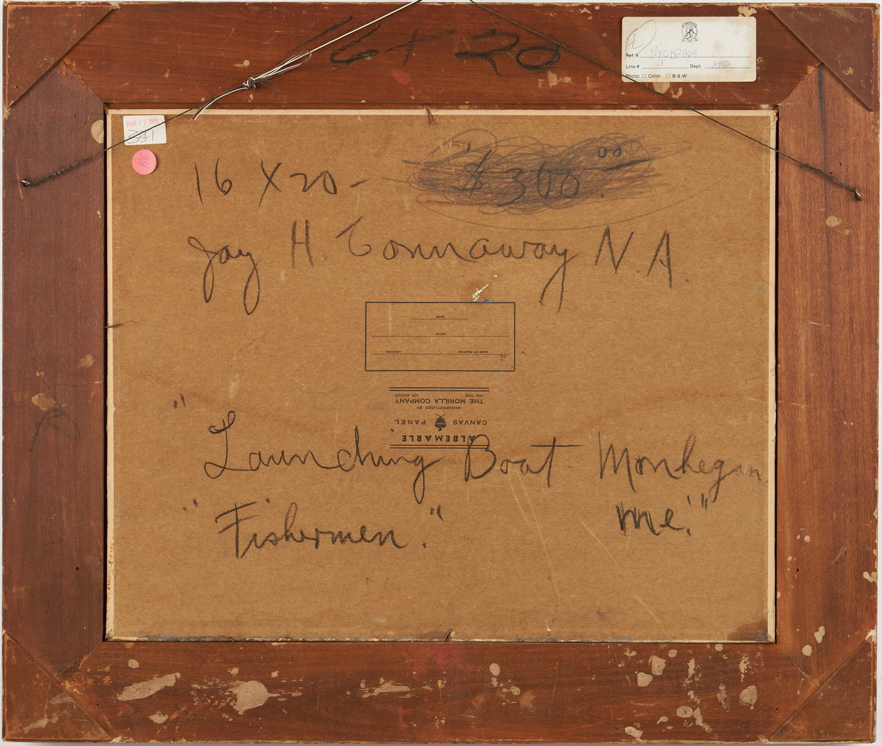 Lot 116: Jay H. Connaway O/B, Launching Boat, Monhegan, ME