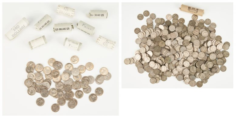 Lot 1170: 839 US Coins, incl. Susan B. Anthony, Nickels