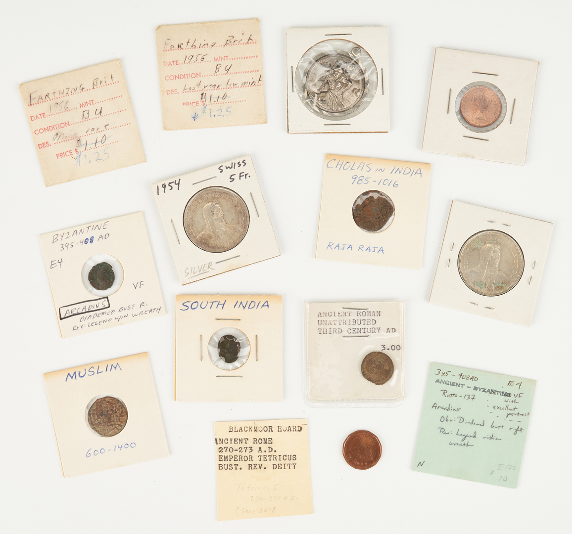 Lot 1171: 9 Ancient & Foreign Coins, incl. Byzantine, Chola