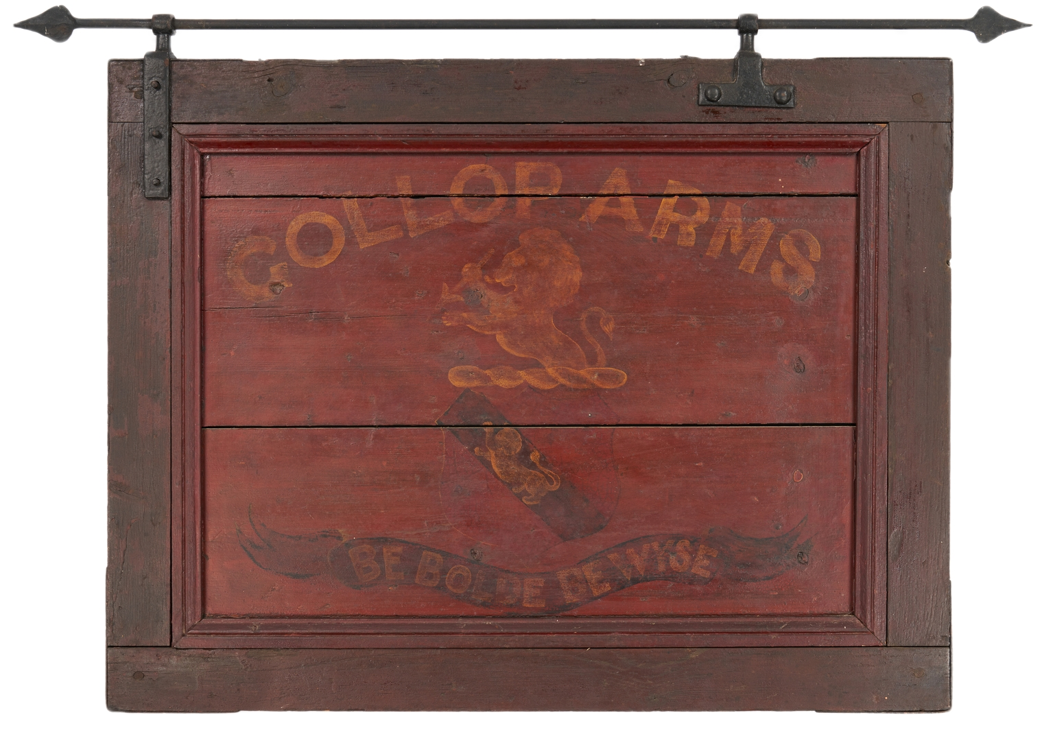 Lot 1173: English Painted Pub Sign, Gollop Arms