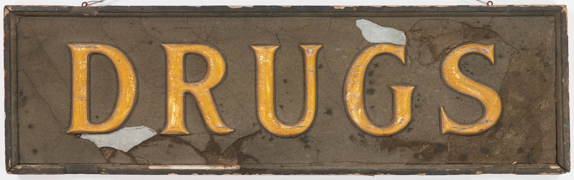 Lot 1174: 2 Painted Advertising Signs, Garage and Pharmacy