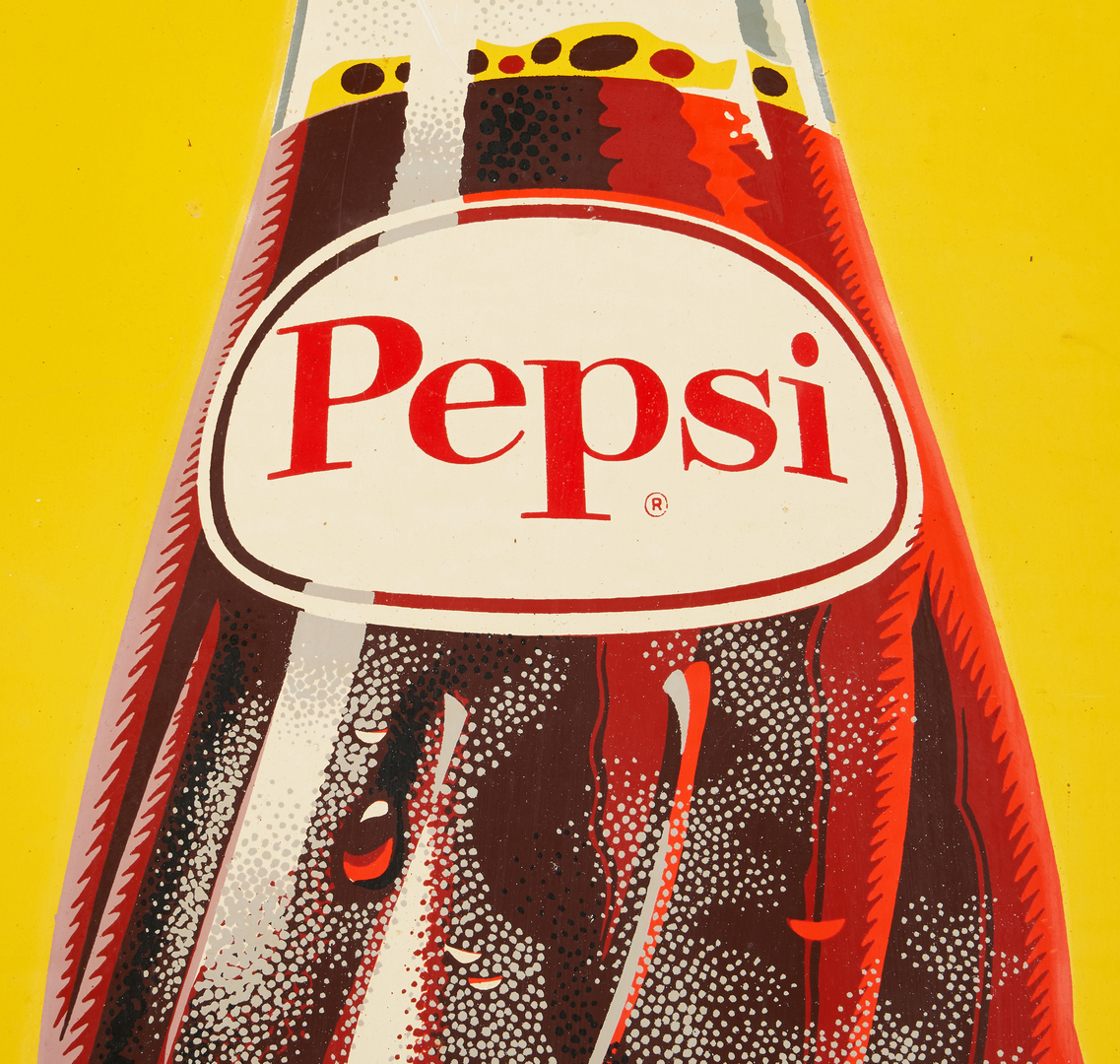 Lot 1175: Pepsi Cola Advertising Sign, Say Pepsi Please