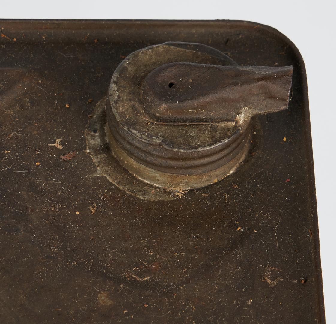 Lot 1177: 2 Havoline 5-Gallon Oil Cans & Crate