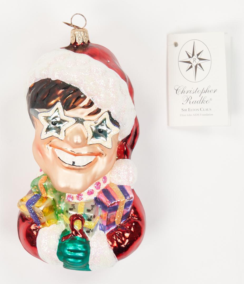 Lot 1178: 33 Christopher Radko Christmas Ornaments, incl. Sir Elton John