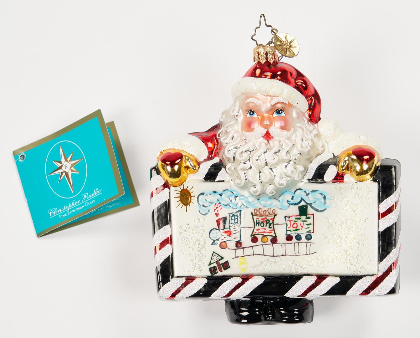 Lot 1181: 37 Christopher Radko Christmas Items, incl. Ornaments, boxed set