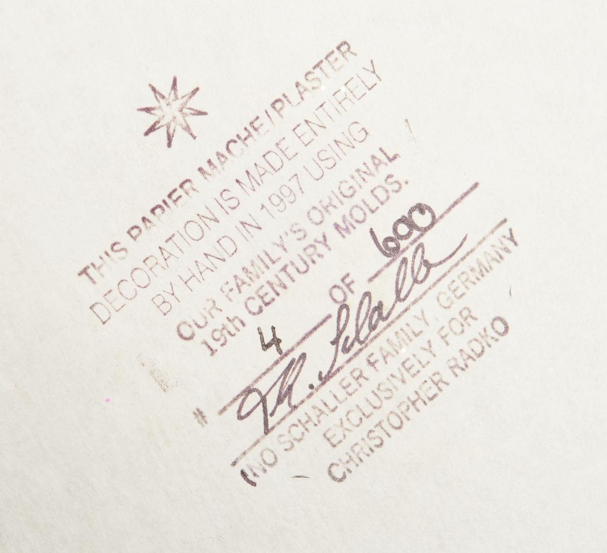 Lot 1183: Radko & Breen Christmas Items, incl. Ino Schaller
