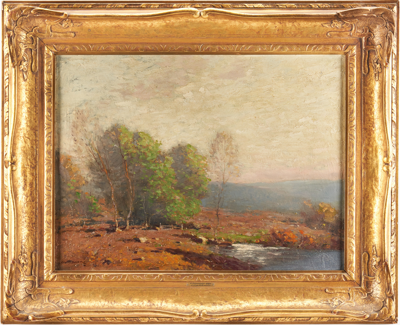 Lot 119: George Matthew Breustle O/C Painting, Impressionist Landscape