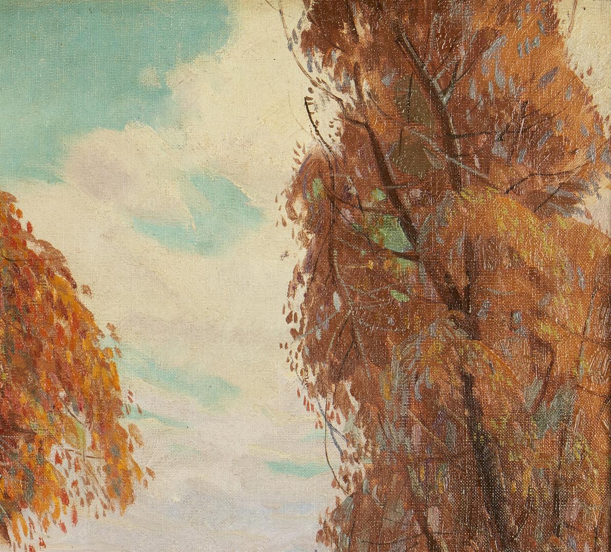 Lot 120: Carl R. Krafft O/C Painting, Autumn Landscape
