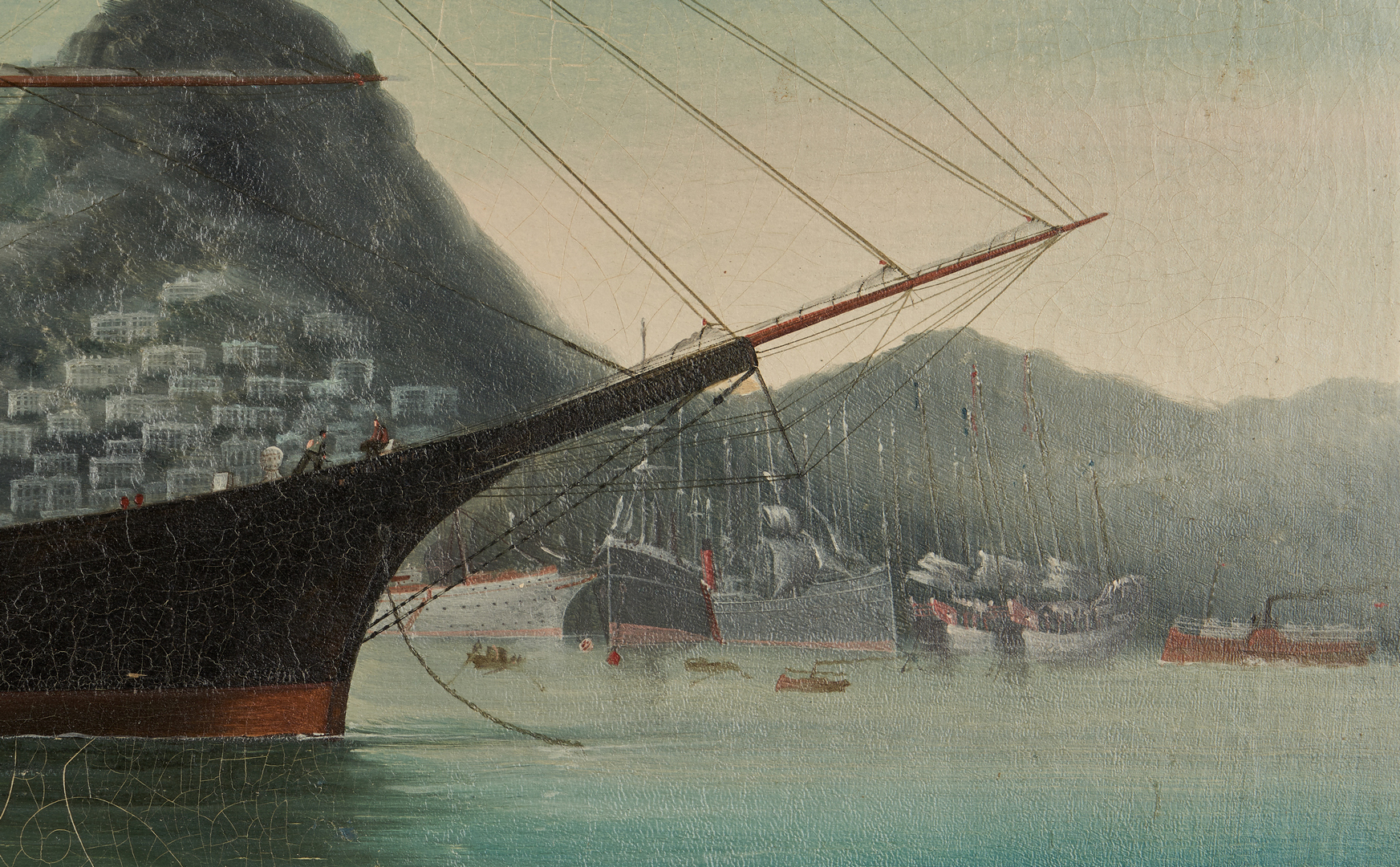 Lot 122: Chinese Export Marine Painting, Challenger