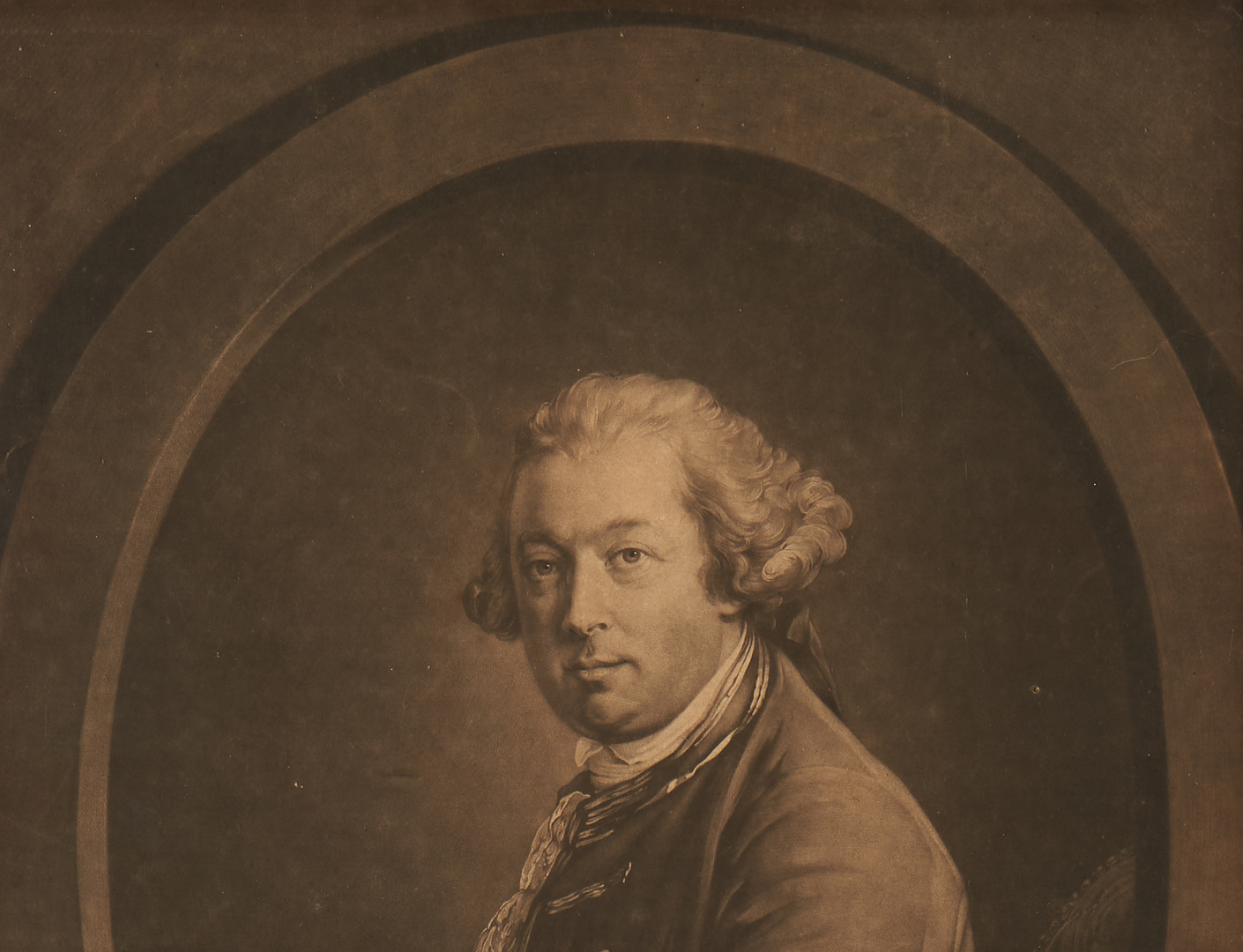 Lot 124: Mezzotint portrait of Gov. Thos. Pownall, SC and Mass.