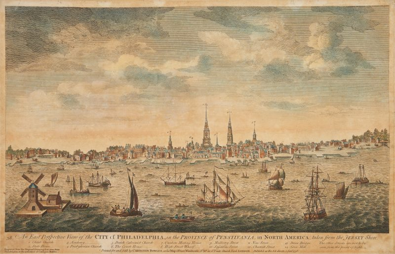 Lot 126: Bowles View of Philadelphia, Heap and Scull