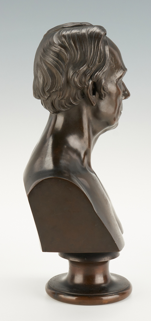 Lot 132: Henry K. Brown Bronze Bust of Henry Clay, 1852