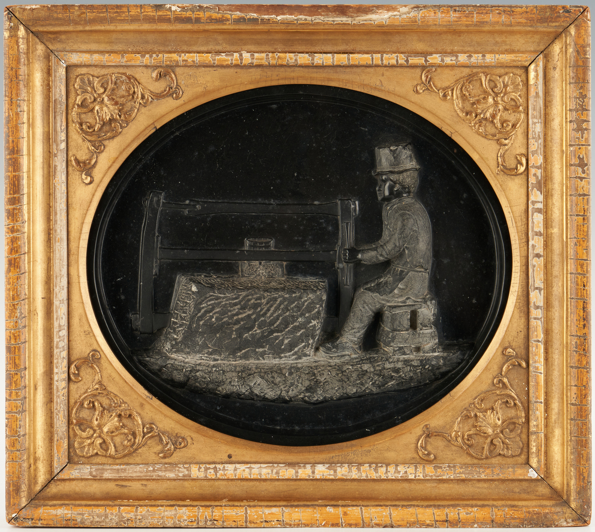 Lot 133: Baltimore Framed Plaque or Trade Sign for Stonecutter