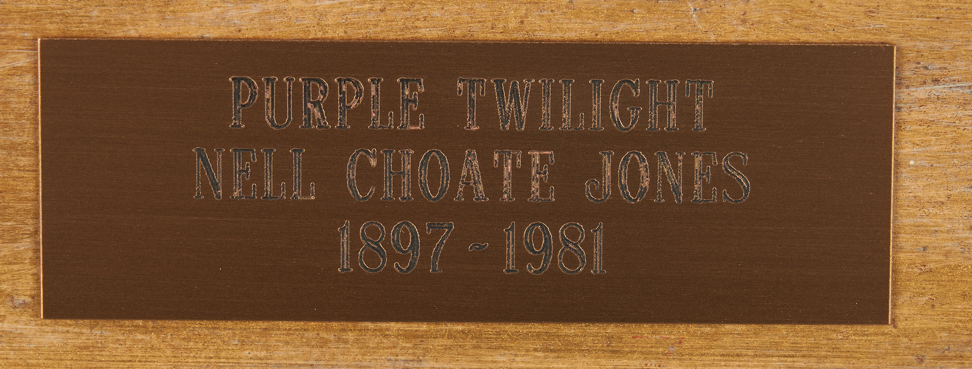 Lot 134: Exhibited Nell Choate Jones O/C Painting, Purple Twilight
