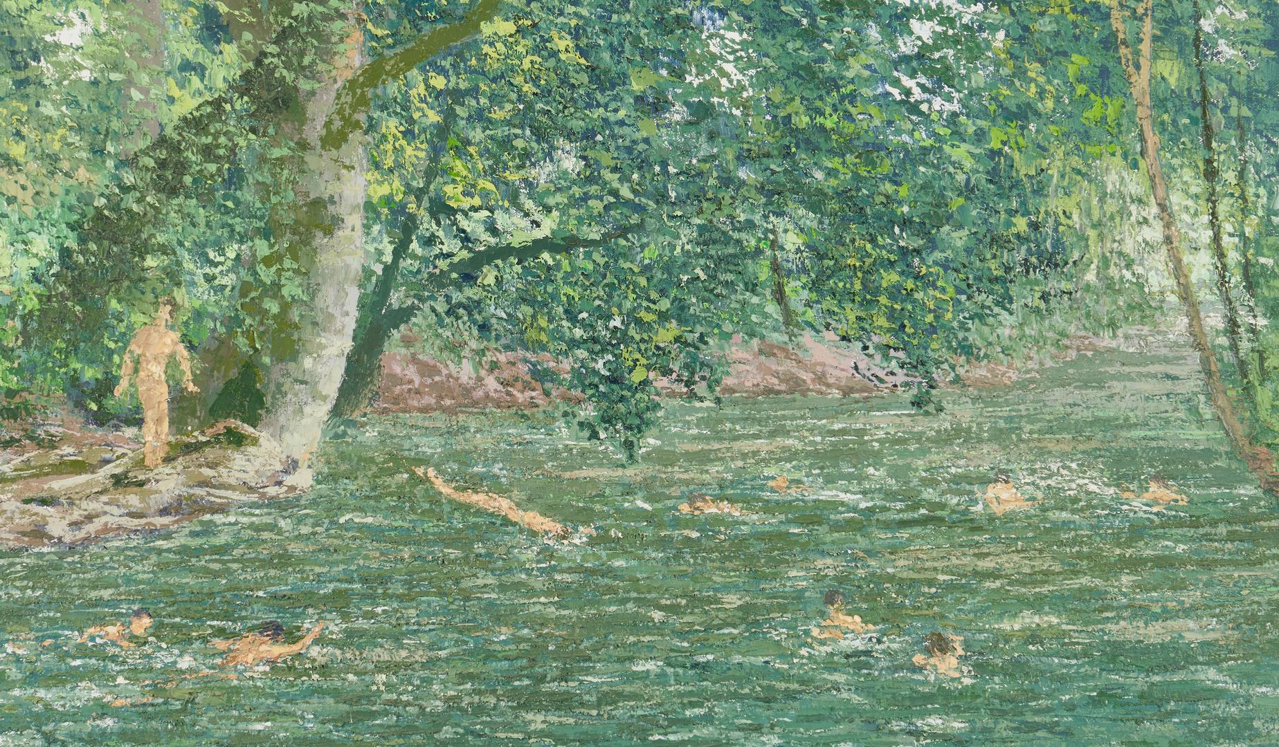 Lot 137: J. Vance Miller O/C Painting, Swimming Pool