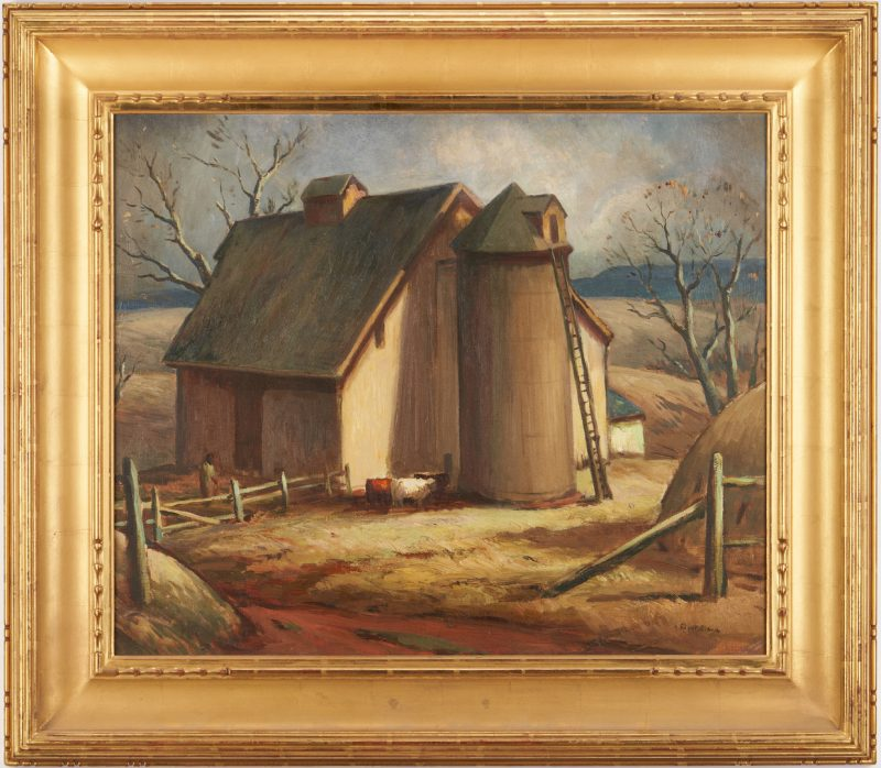Lot 138: Eliot Clark O/C Painting, Virginia Barn