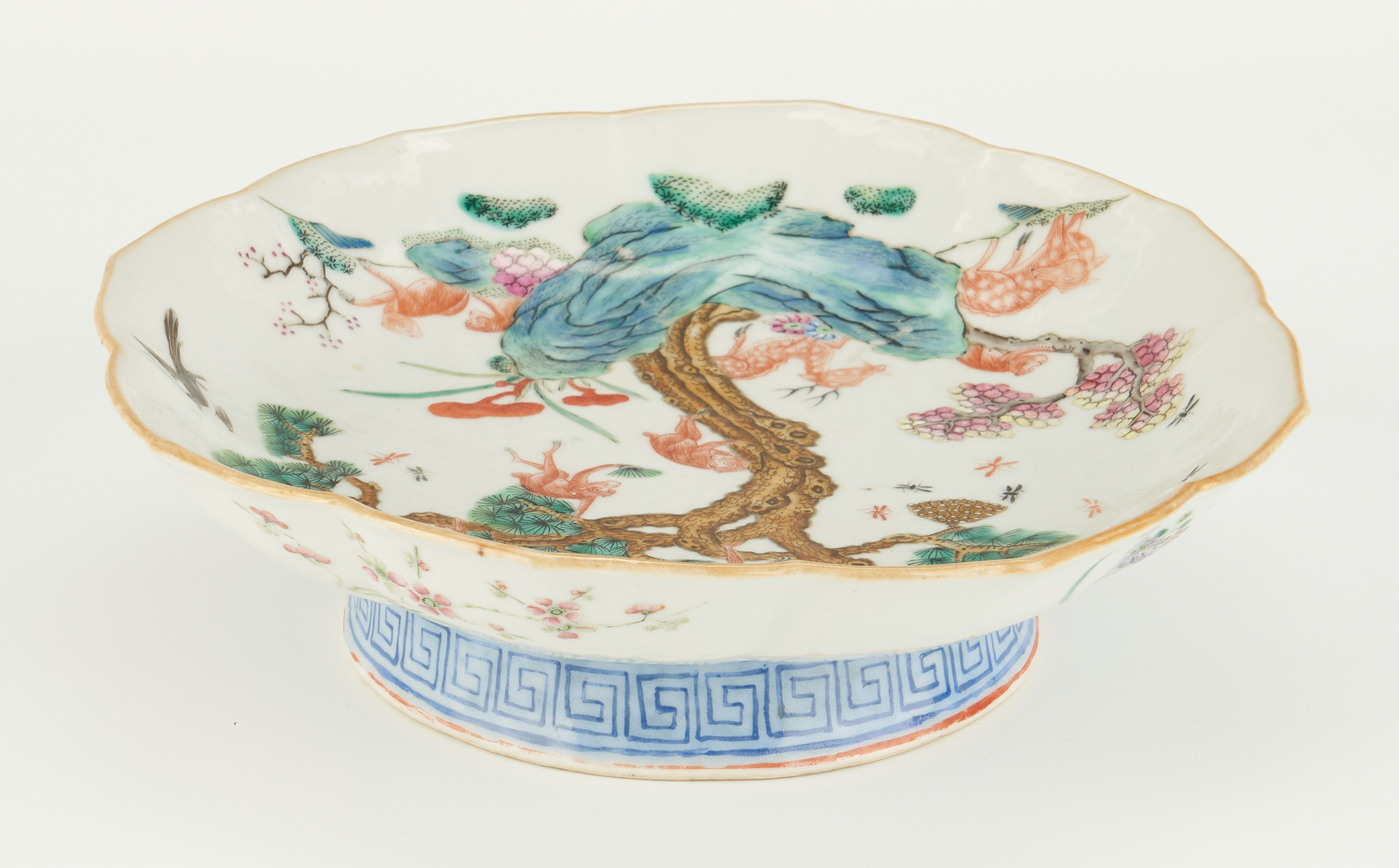 Lot 13: Dish with Monkey, Deer, & Wasp, Xianfeng