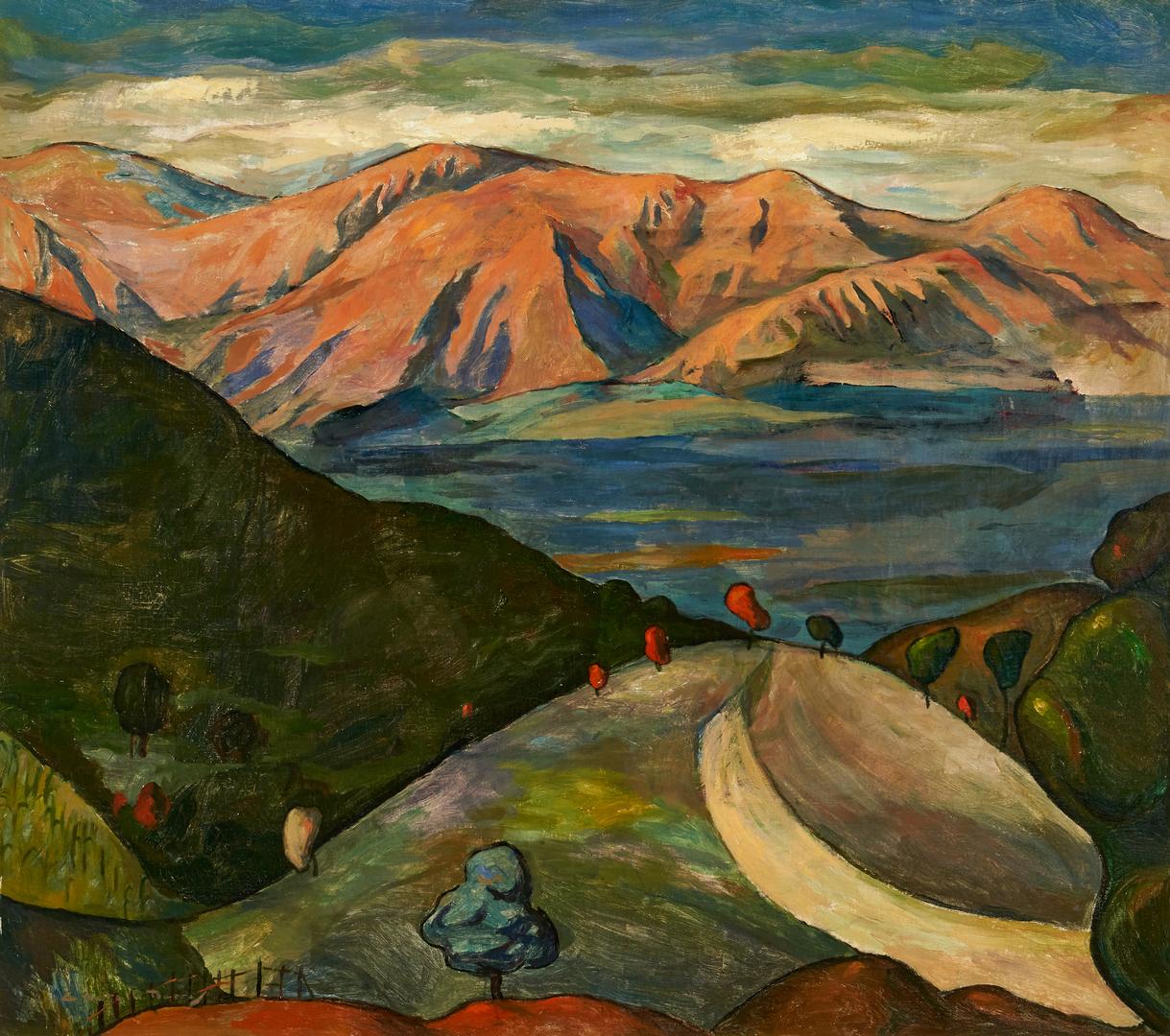 Lot 140: Angel Botello Barros Oil Landscape