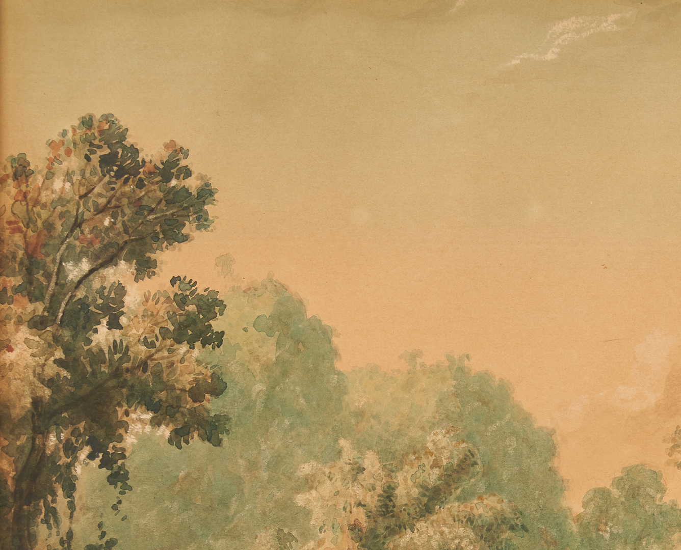 Lot 141: M.J. Cazabon 19th C. Watercolor Landscape, Trinidad