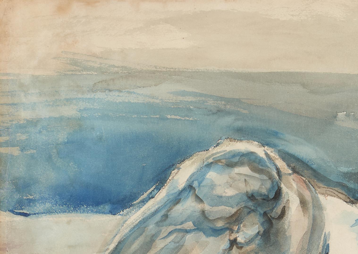 Lot 142: Joseph Delaney Watercolor of a Nude Woman