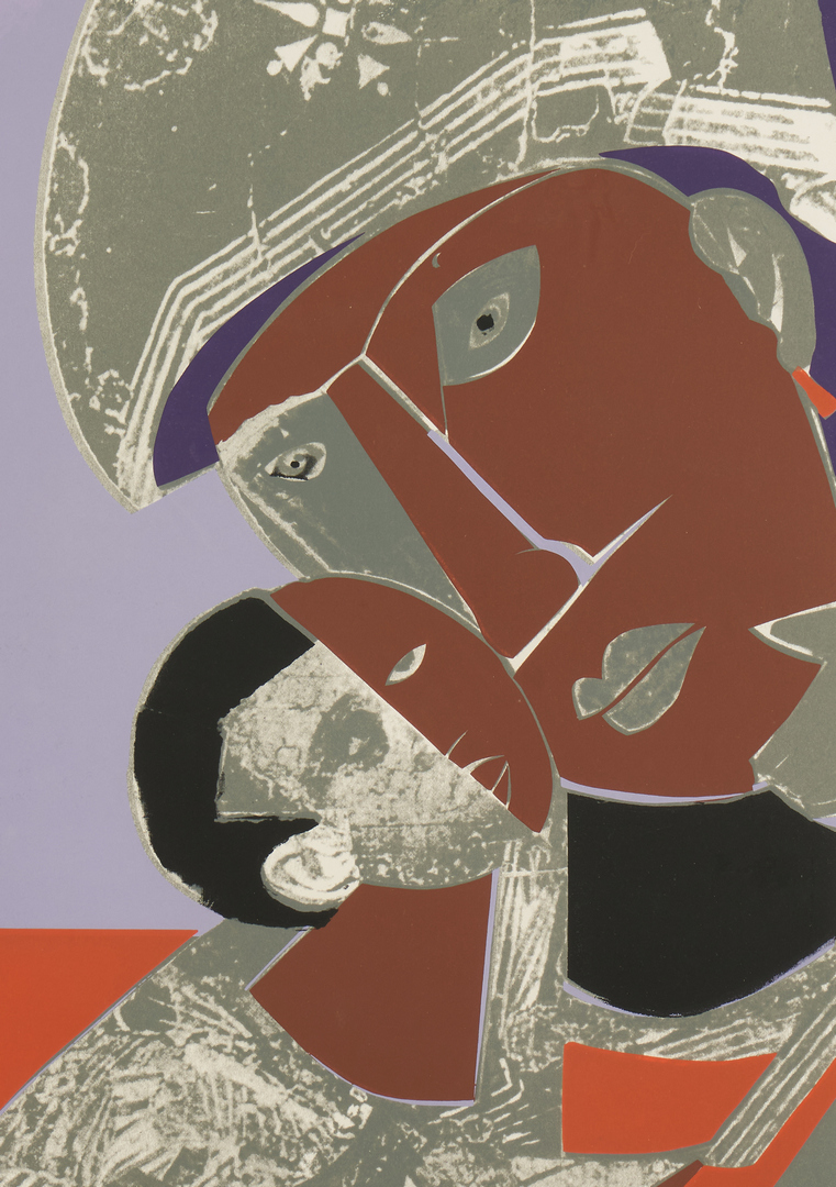 Lot 143: Romare Bearden Serigraph, Mother and Child