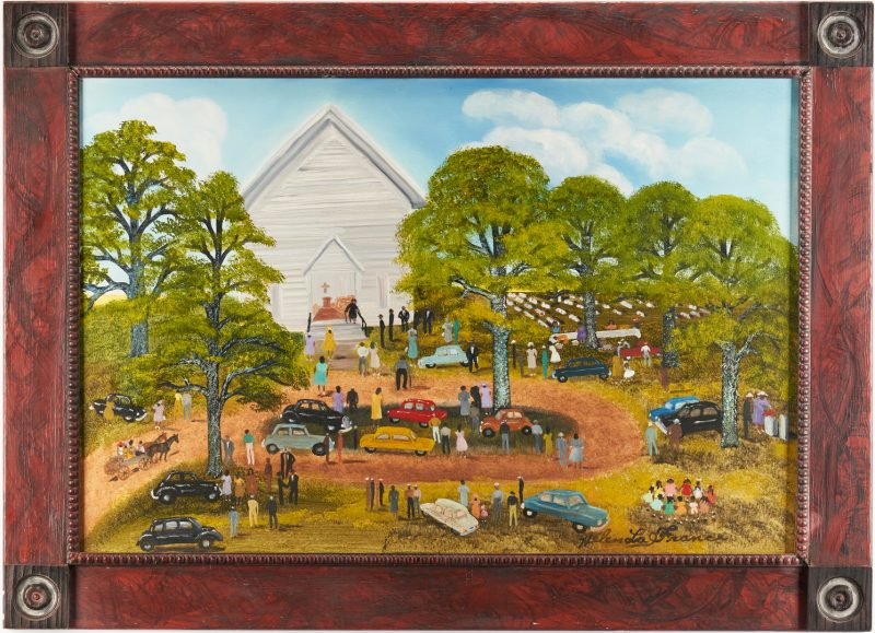 Lot 144: Helen LaFrance O/C, Church Picnic