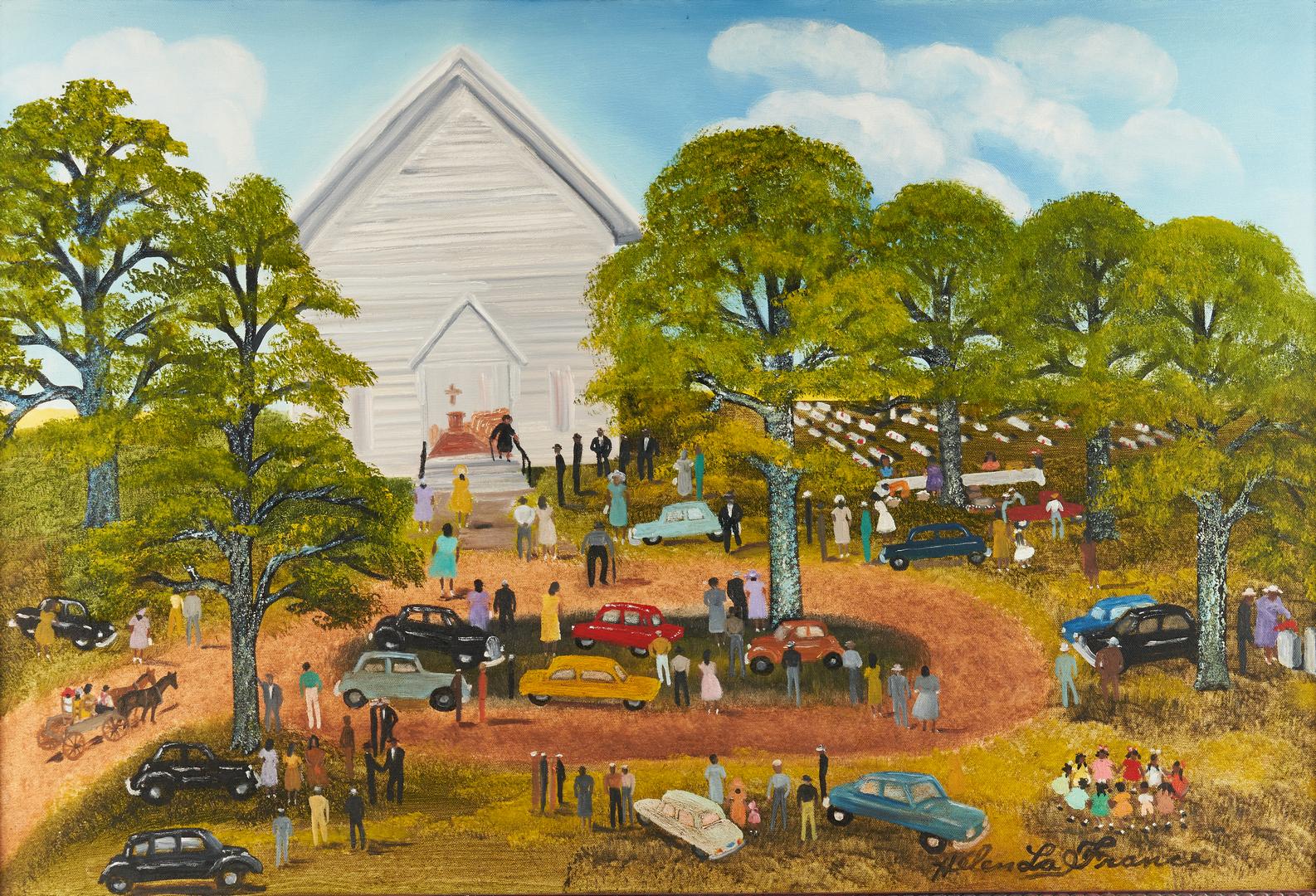 Lot 144: Helen LaFrance O/C, Church Picnic