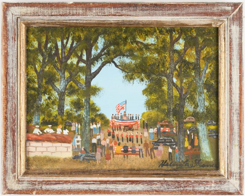 Lot 146: Helen LaFrance O/C, Fourth of July Picnic