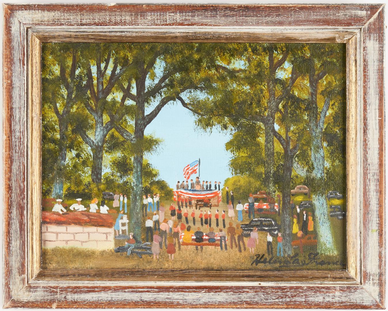 Lot 146: Helen LaFrance O/C, Fourth of July Picnic