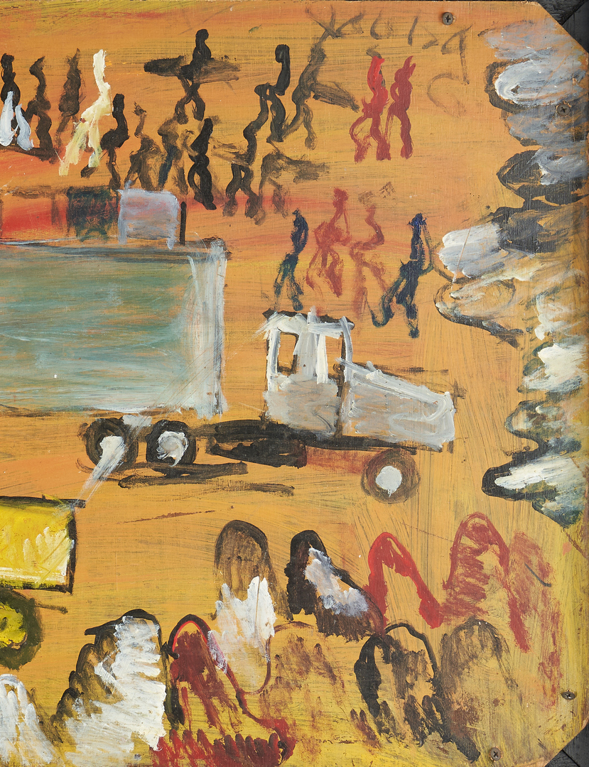 Lot 148: Purvis Young Outsider Art Painting, Assemblage