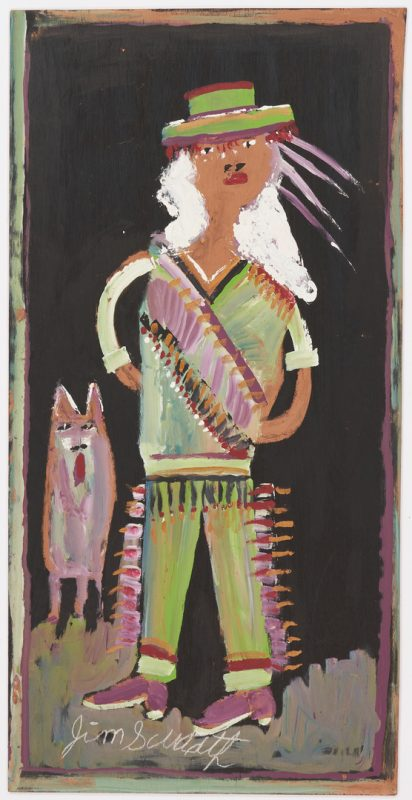 Lot 150: J.L. Sudduth Native American Folk Art Painting