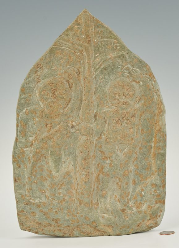 Lot 156: Raymond Coins Stele Sculpture, Adam & Eve