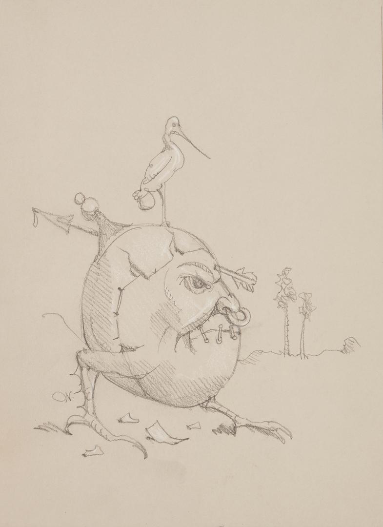 Lot 161: 2 Werner Wildner Surrealist Artworks