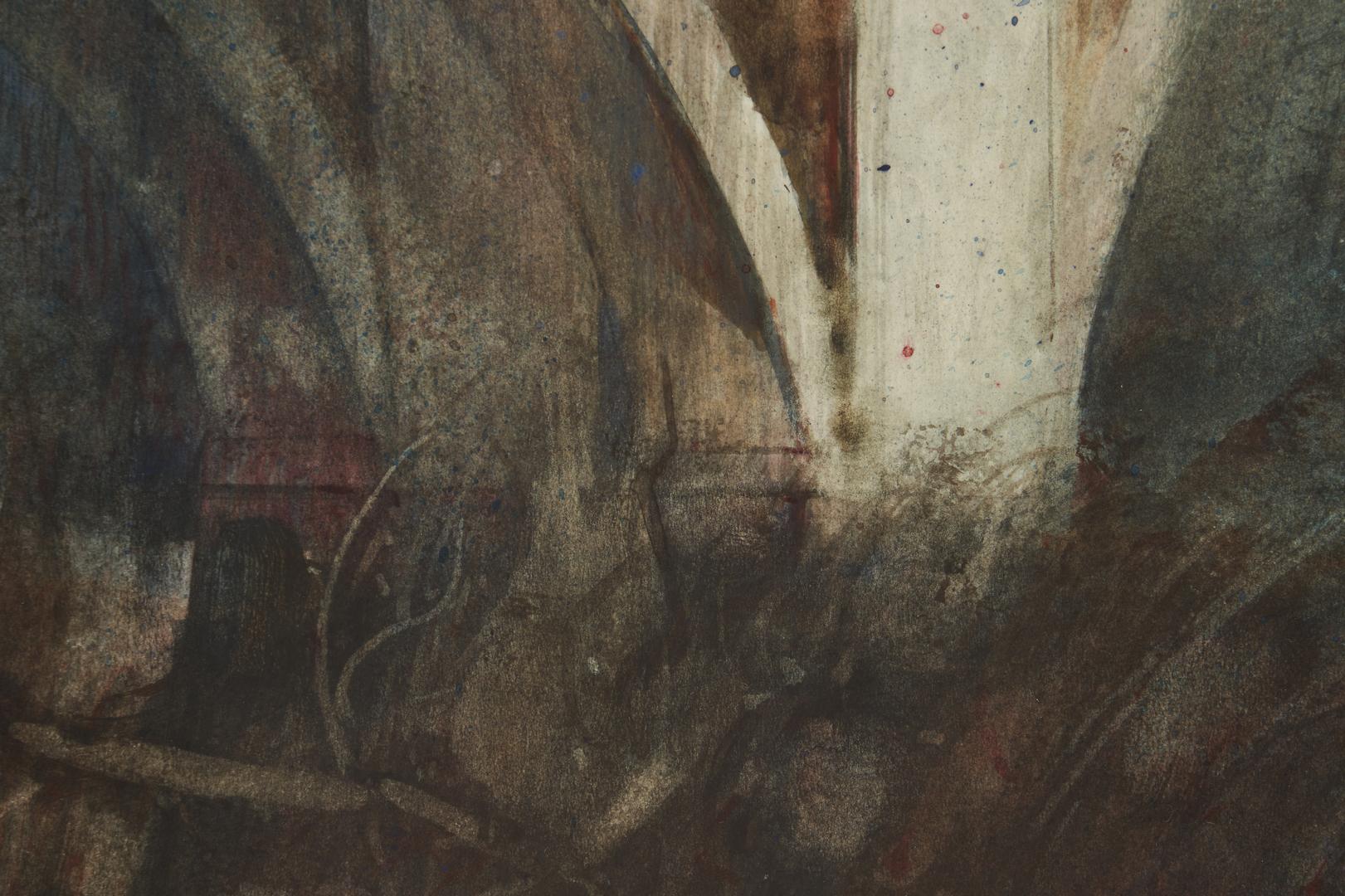 Lot 168: Carl Sublett Watercolor, Gay Street Bridge