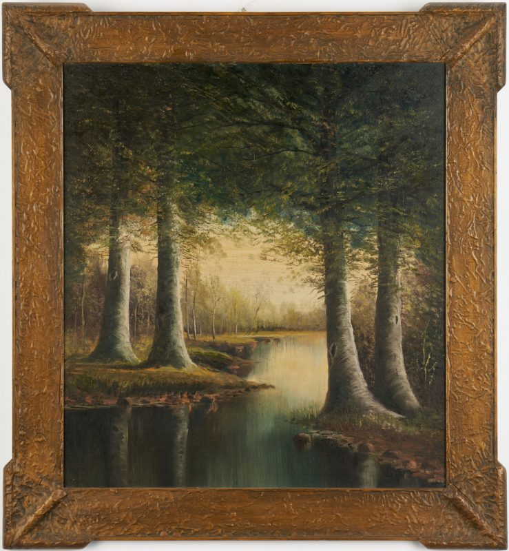 Lot 172: Large Washington Girard TN Oil Landscape
