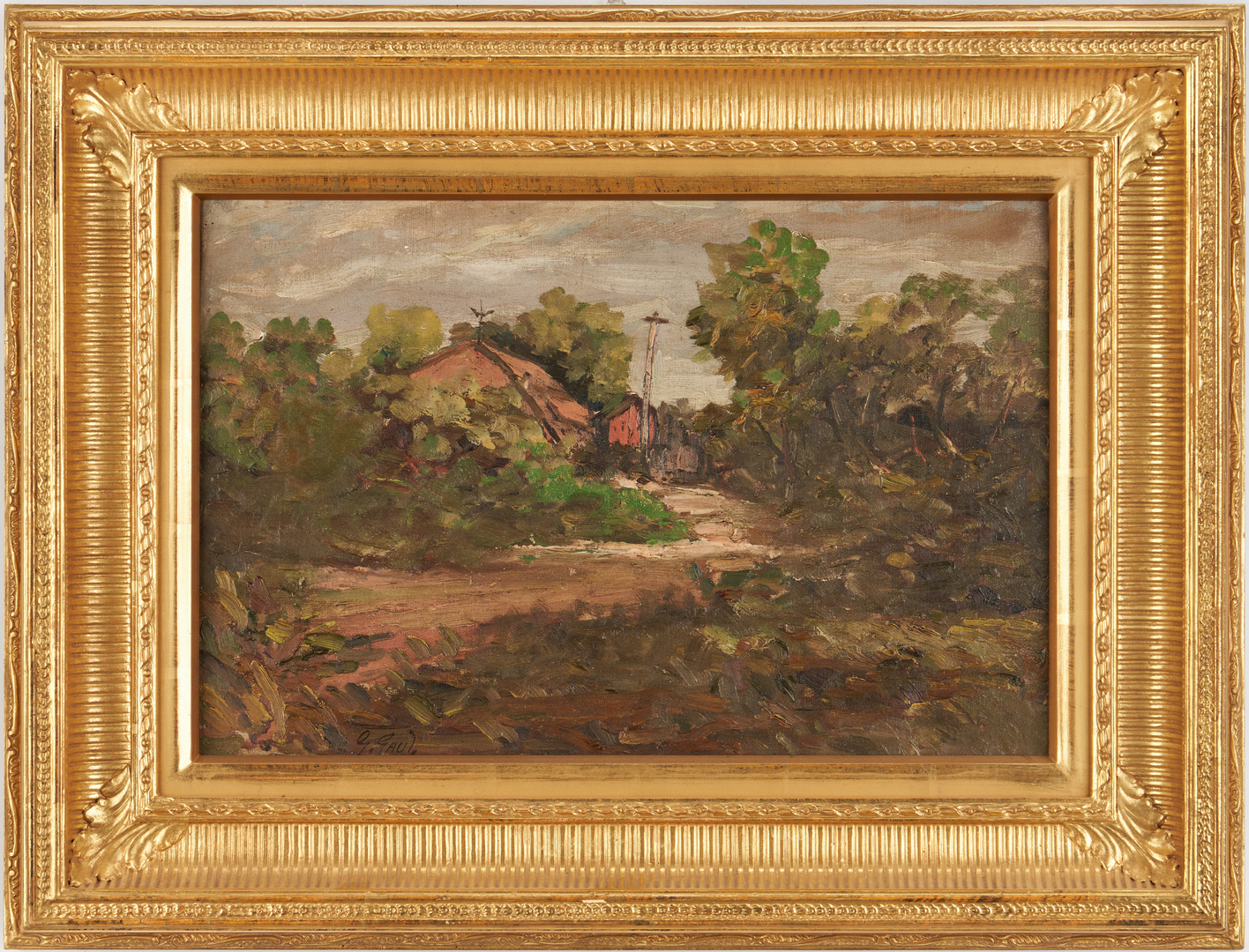 Lot 173: Gilbert Gaul O/C Landscape, Country Road