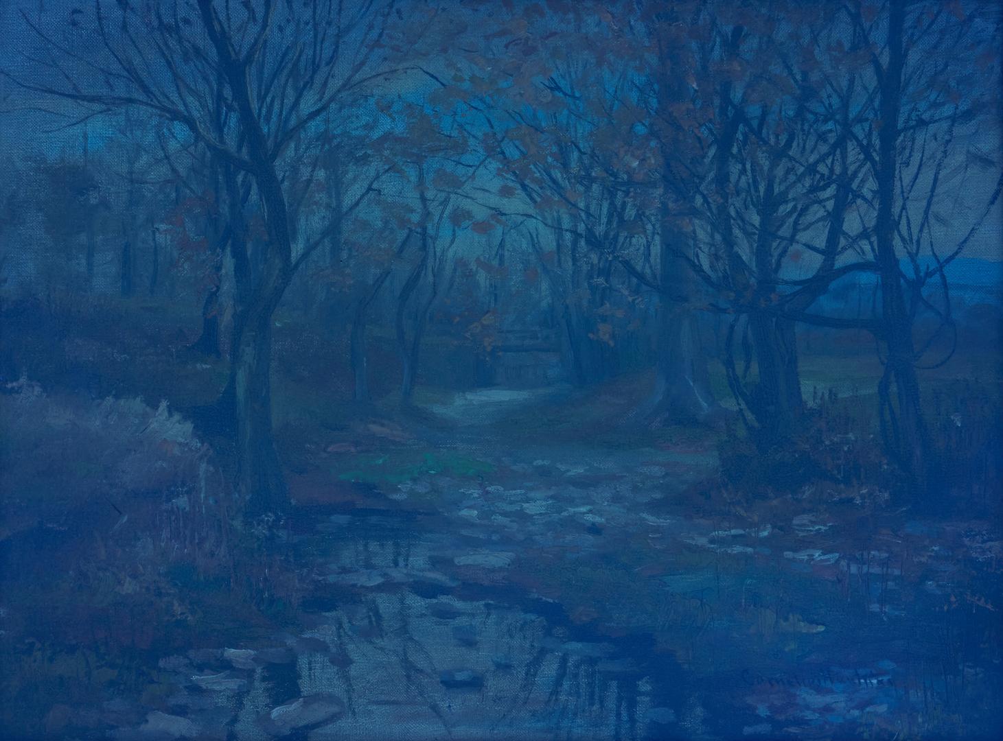 Lot 174: Cornelius Hankins O/C, Autumn Landscape w/ Creek